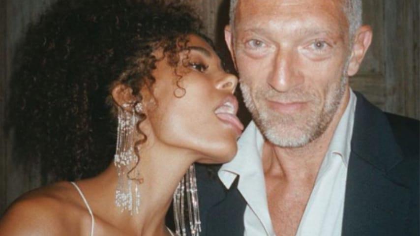 Tina Kunakey e Vincent Cassel in versione neo papà