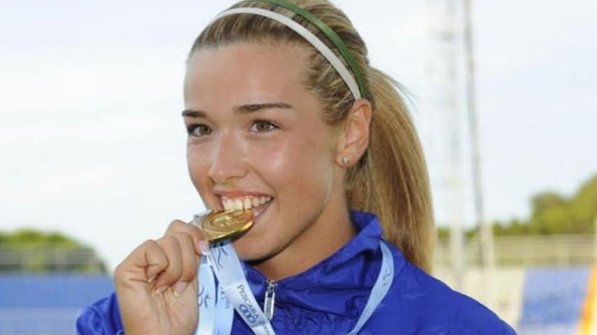 Silvia Salis, campionessa di lancio del martello, immortalata ai Giochi del Mediterraneo