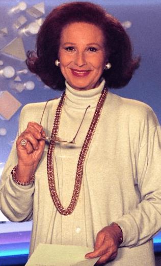 Compie 90 anni la signorina buonasera Nicoletta Orsomando