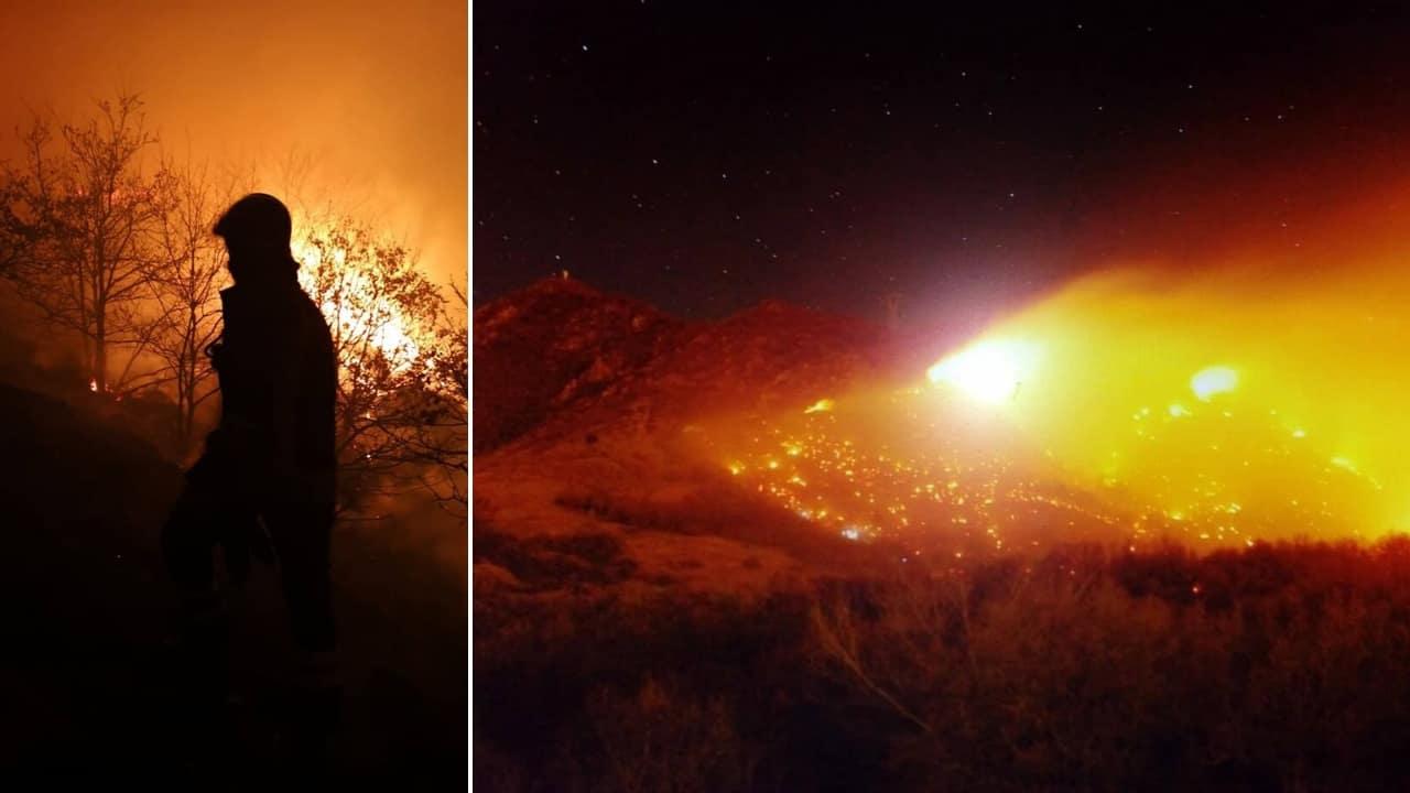 Torna la paura incendi in val di susa