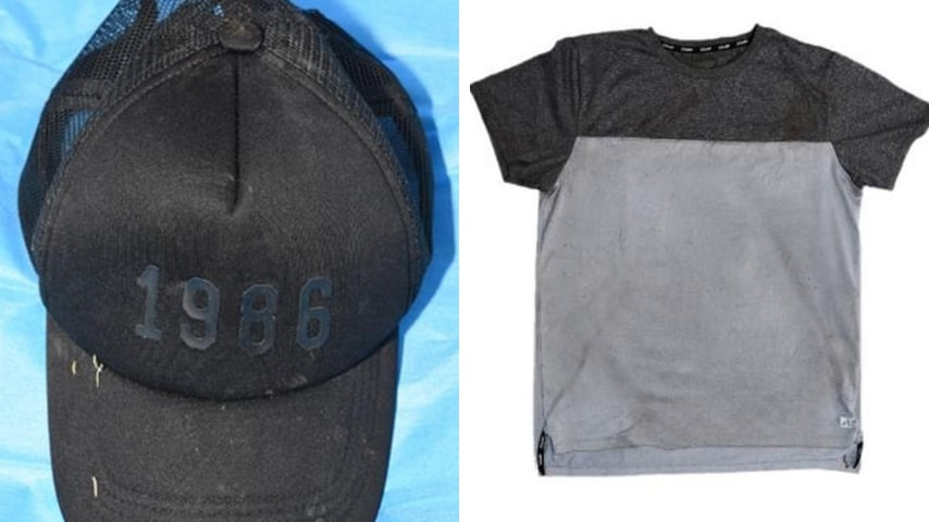 Il cappello e la maglietta rinvenuti nel luogo del delitto.