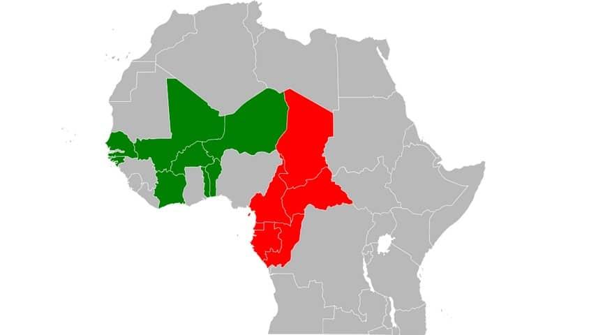 I Paesi africani in cui viene utilizzato il franco CFA