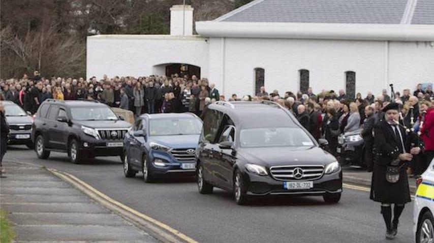 La cerimonia per dare l'ultimo saluto a Dawn Croke