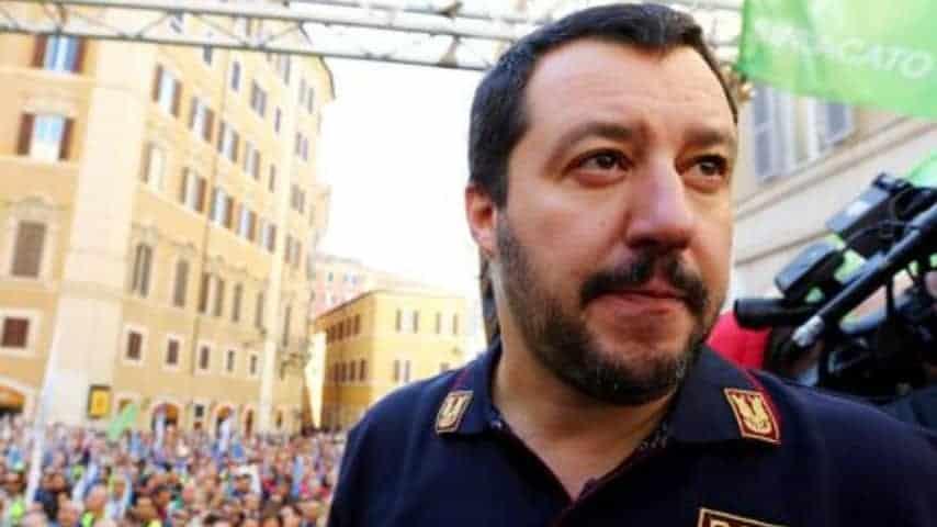 Il ministro dell'interno Matteo Salvini. Foto: ANSA