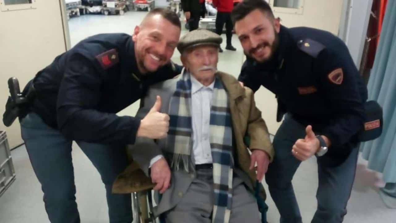 Nonno Giuseppe si perde ma lo salva la polizia dalla notte gelida di Alessandria