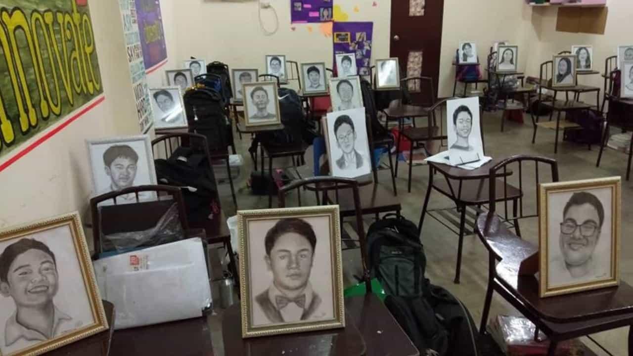 I ritratti di Roselyn regalati ai suoi studenti