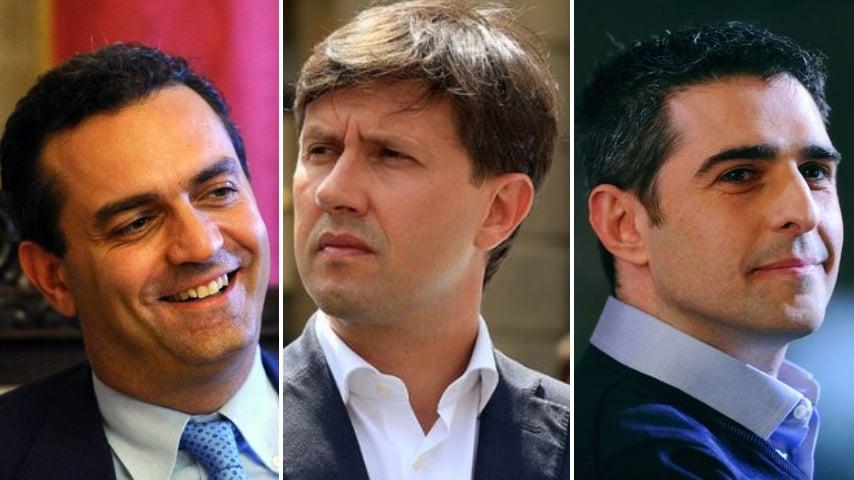 Luigi De Magistris, Dario nardella, Federico Pizzarotti