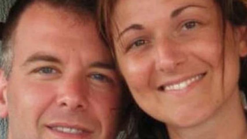 Stefania Crotti con il marito
