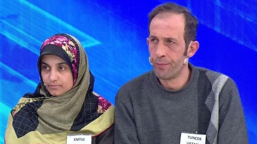 tuncer ustael con la moglie in tv