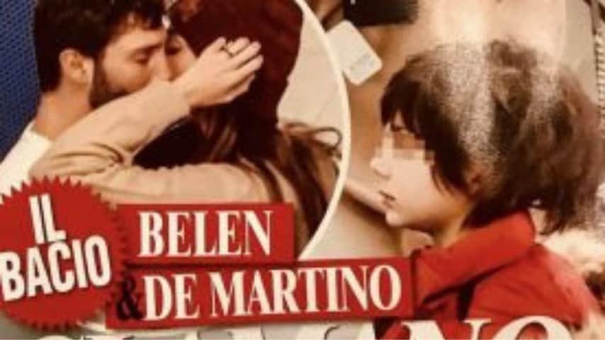 Il bacio tra Rodriguez e De Martino uscito sulla copertina di Chi
