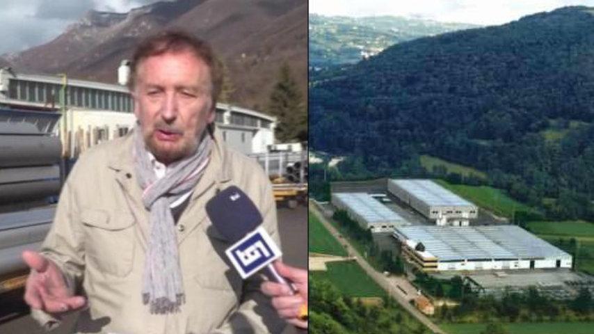 Da sinistra: Vinicio Bulla in un'intervista ai microfoni del Tg1 e la Rivit spa vista dall'alto
