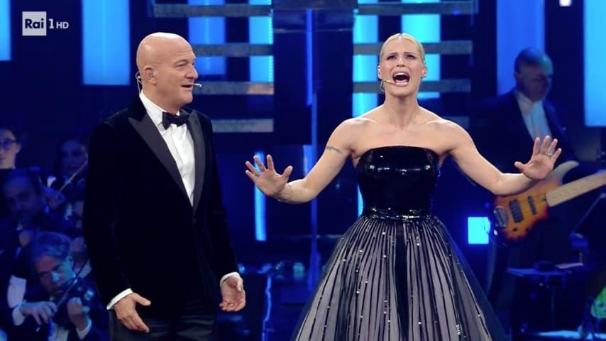 Michelle Hunziker e Claudio Bisio fra canto e ballo
