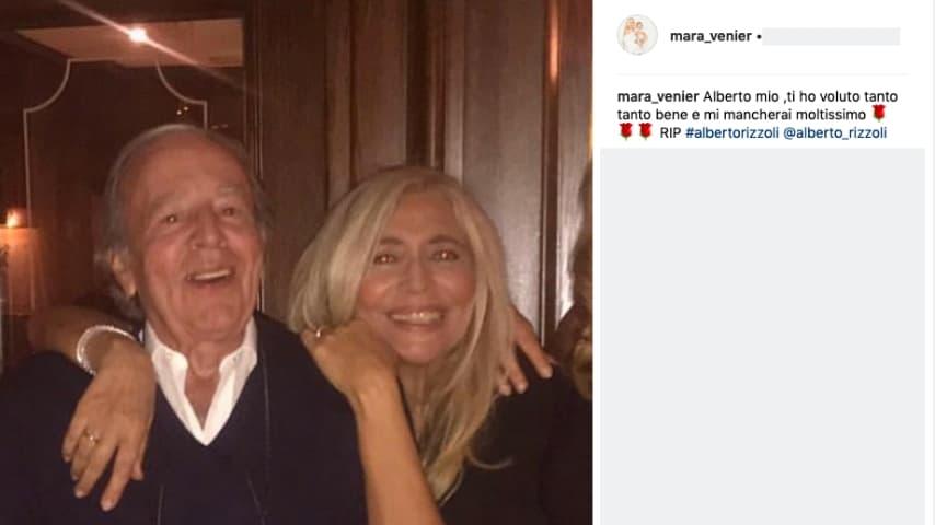 La dedica di Mara Venier ad Alberto Rizzoli su Instagram