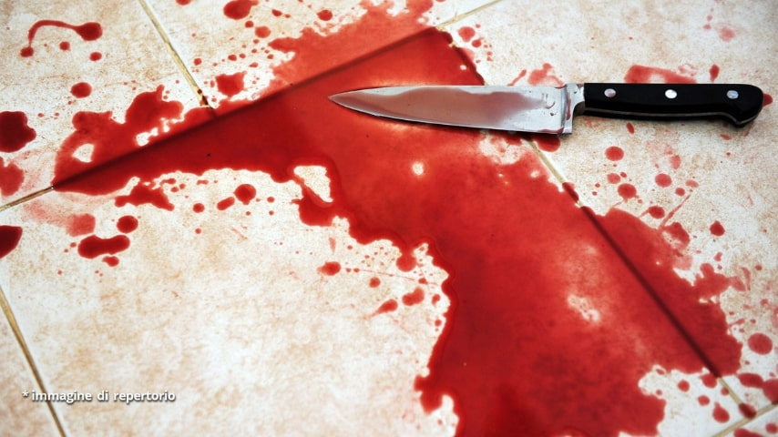 La donna ha cercato di colpire il ragazzo con un coltello