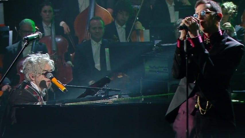 L'esibizione di Achille Lauro con Morgan