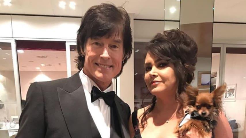 Ronn Moss e moglie a Sanremo