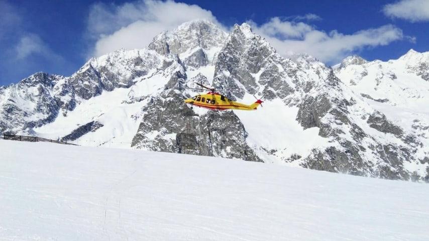 Un elicottero del soccorso alpino. Immagine di repertorio