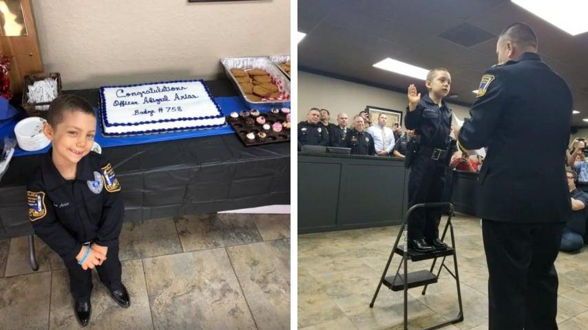 bimba poliziotta cancro interna