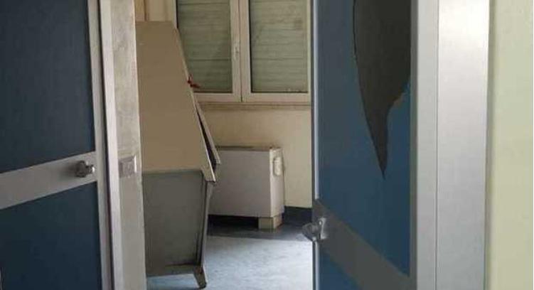 Un angolo dell'ospedale di Boscotrecase assaltato dai parenti di una paziente deceduta (Fonte Corriere del Mezzogiorno)