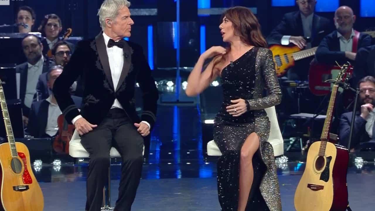 Claudio Baglioni e Virginia Raffaele a Sanremo 2019