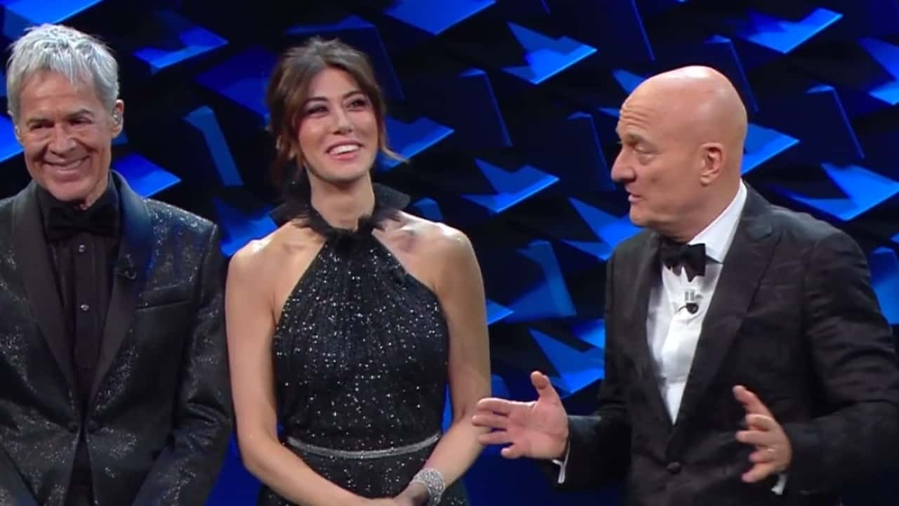 Claudio Baglioni, Claudio Bisio e Virginia Raffaele al Festival