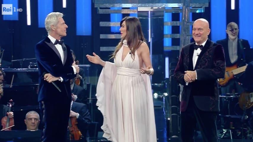 Claudio Baglioni, Claudio Bisio e Virginia Raffaele