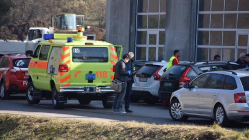 ambulanza presso il luogo dell'incidente