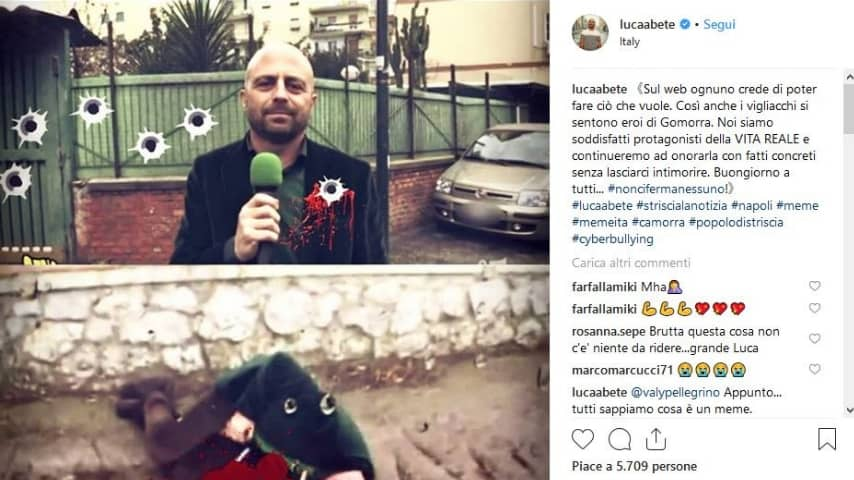Luca Abete minacciato da un meme, ma è una parodia?