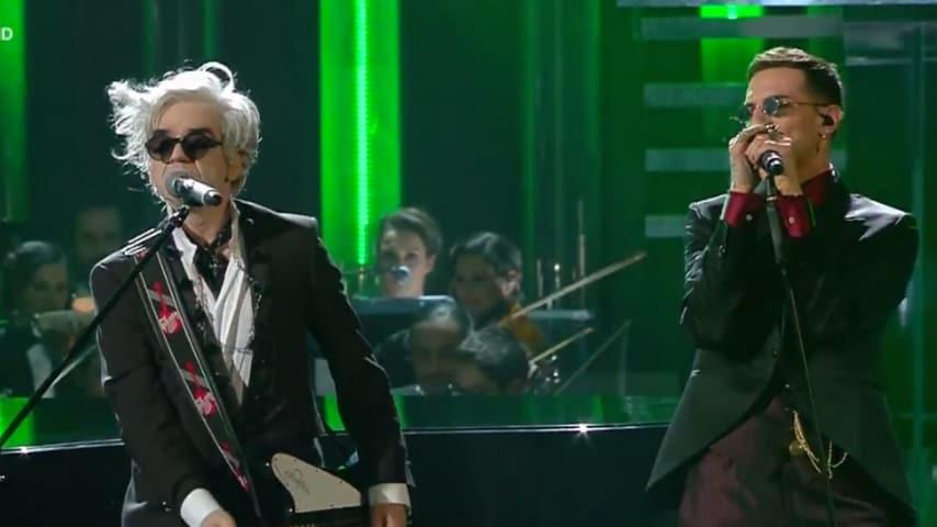 Achille Lauro e Morgan cantano Rolls Royce