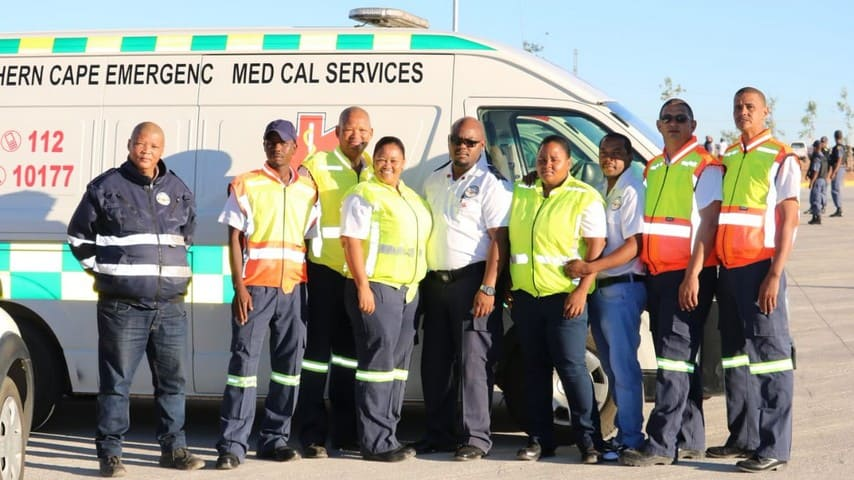 polizia sudafricana