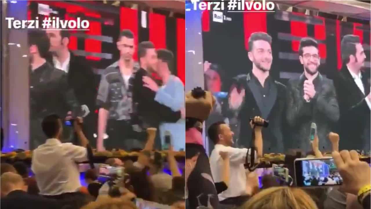 """Sanremo, la sala stampa contro Il Volo e Facchinetti replica: """"Idioti"""""""