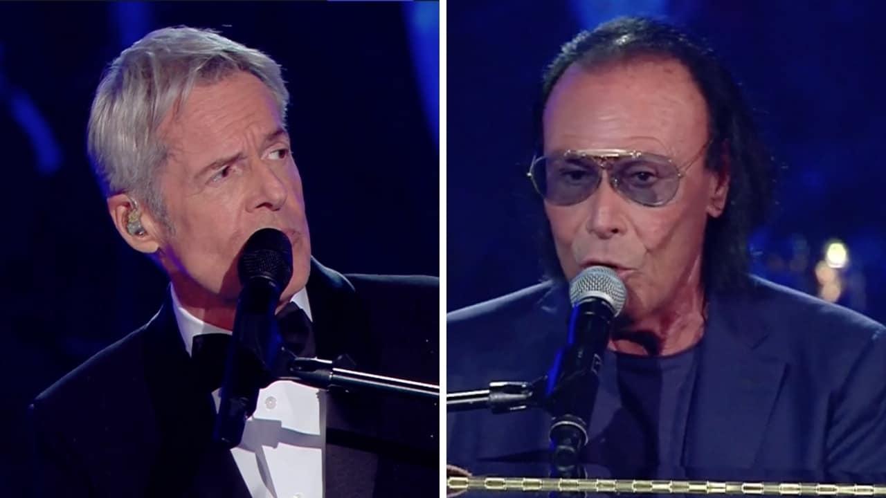 Antonello Venditti e Claudio Baglioni cantano Notte prima degli esami