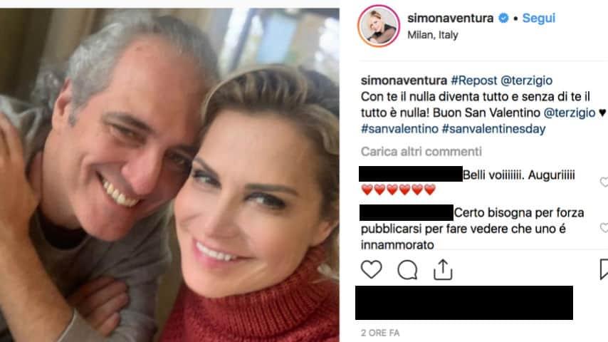 Simona Ventura e Giovanni Terzi: parole d'amore per San Valentino