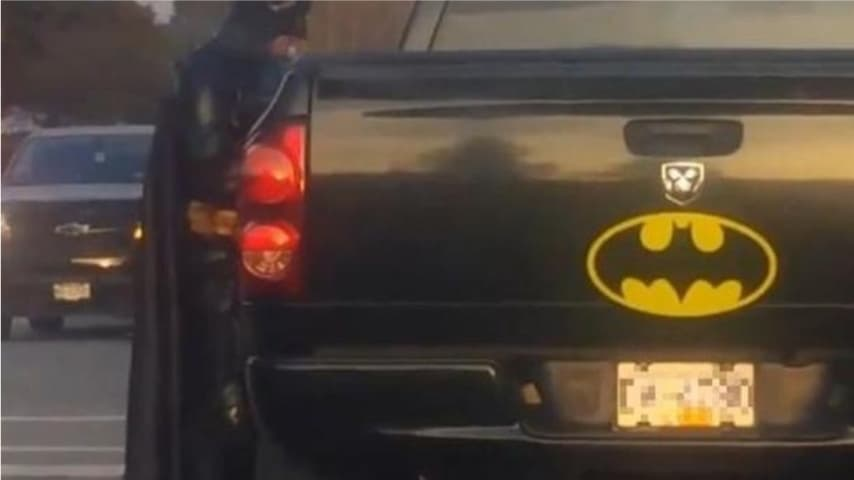 Batman e la sua Batmobile