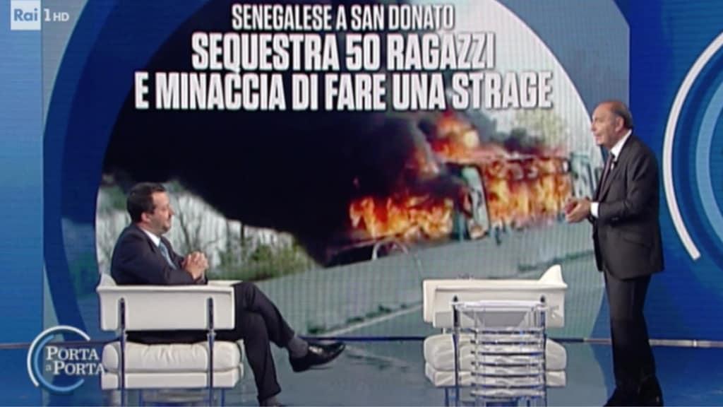 Bus in fiamme, Salvini: Certificato penale obbligatorio per chi lavora a contatto con il pubblico