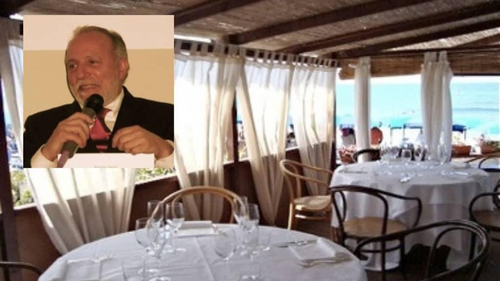 Luciano Zazzeri e il suo ristorante. Fonte: Ansa