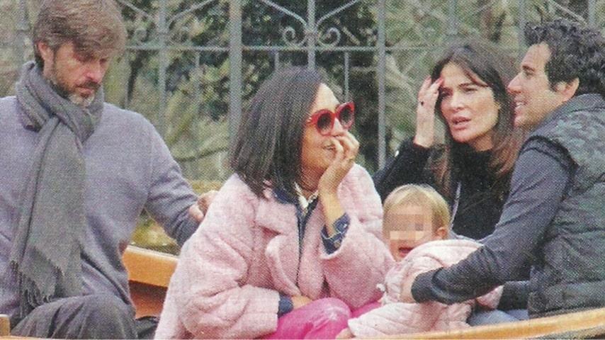 Le famiglie di Ilaria Spada e Caterina Balivo insieme