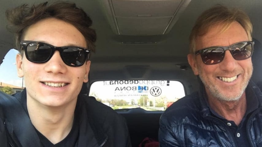 Manuel Bortuzzo e il padre Franco (Foto Facebook)