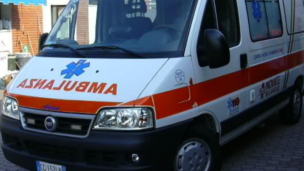 muso di un'ambulanza