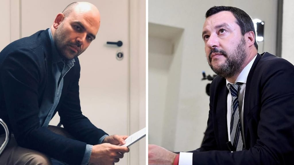 """Saviano rinviato a giudizio: """"Salvini scappa dal processo sulla Diciotti, io resto"""""""