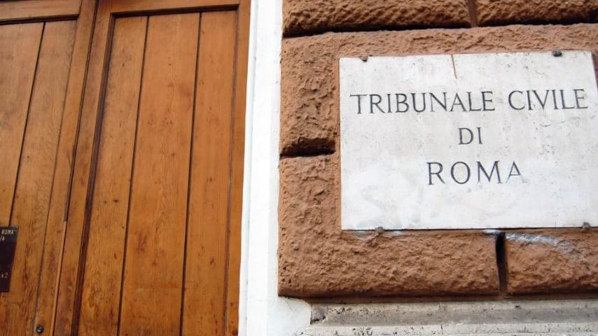 La vicenda è finita di fronte al giudice della corte del Tribunale di Roma. Immagine di repertorio