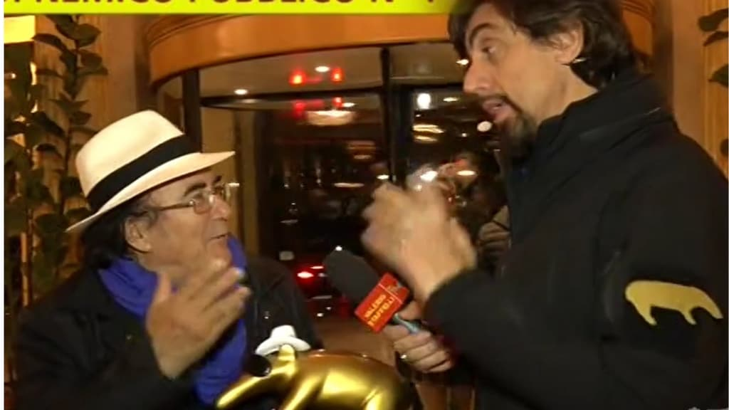 Consegna del Tapiro d'Oro al cantante Al Bano