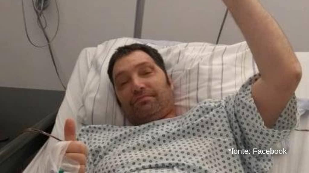 alessandro cecilioni in un letto di ospedale
