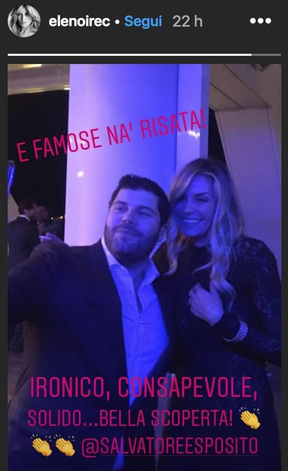 Elenoire Casalegno insieme a Salvatore Esposito