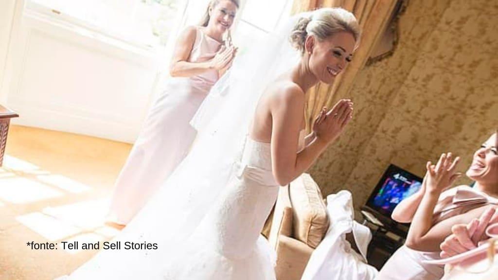 charlotte drake in abito da sposa