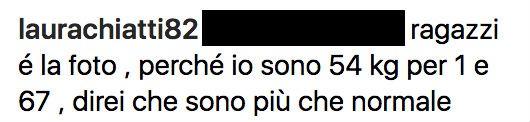 Il commento di Laura Chiatti