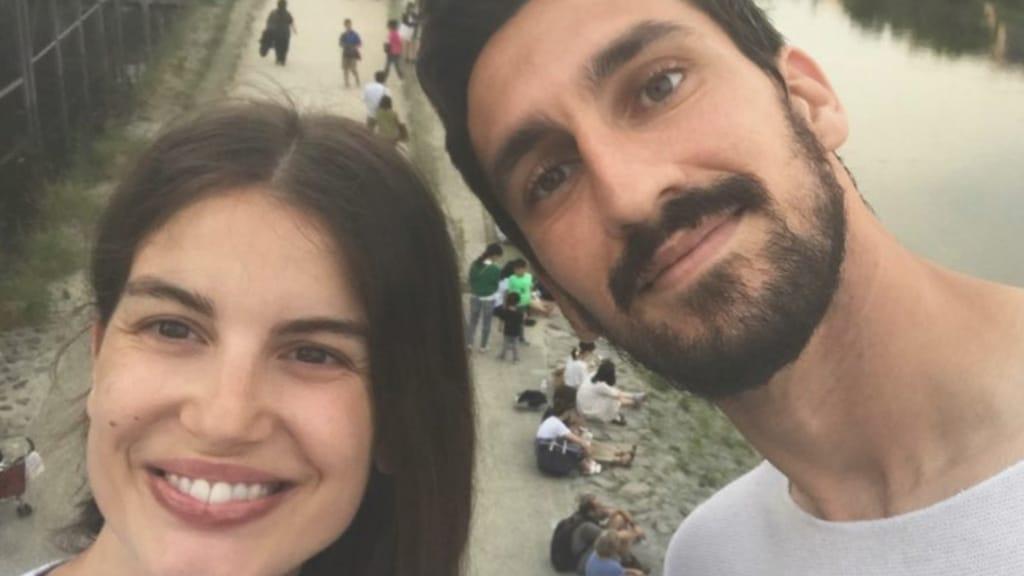 Francesca Fioretti e Davide Astori. Foto: Instagram