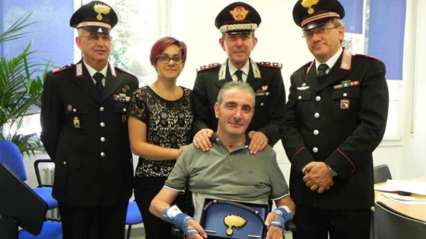 """Giuseppe Giangrande, carabiniere paralizzato, scrive a Manuel Bortuzzo: """"Potrai rinascere come una fenice"""""""