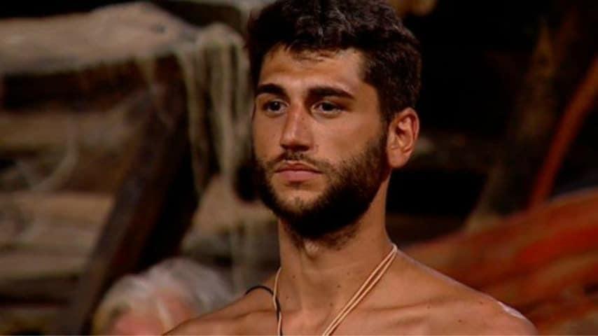 Jeremias Rodriguez durante la trasmissione L'Isola dei famosi