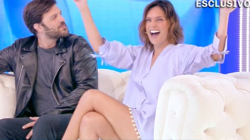 Fernanda Lessa e Luca Zocchi a Domenica Live
